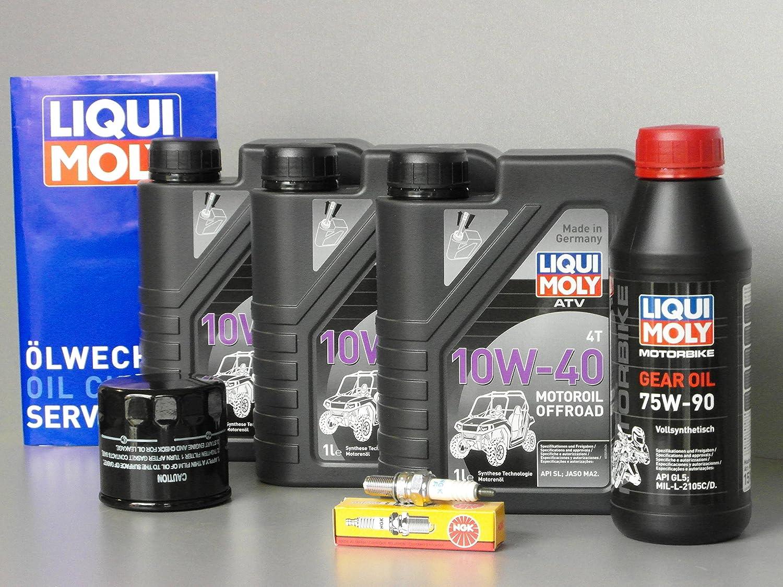 Quad Adly Conquest 600 Conquest 700 – Kit de mantenimiento con aceite Bujía de aceite: Amazon.es: Coche y moto