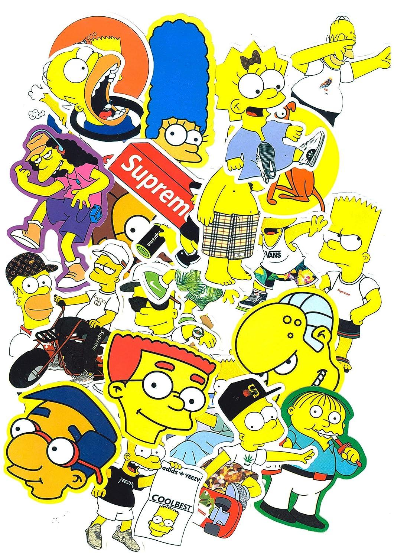 Juego de 25 Pegatinas de The Simpsons Vinilos https://amzn.to/2WA8NdT