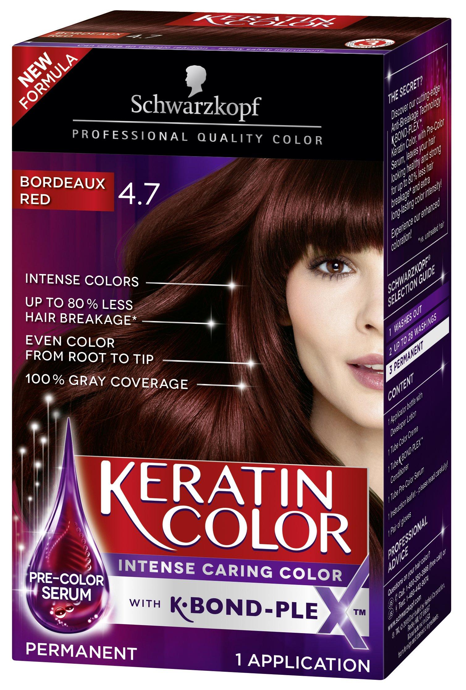 Amazon.com: Schwarzkopf Ultime Hair Color Cream, 4.2 Mahogany Red ...