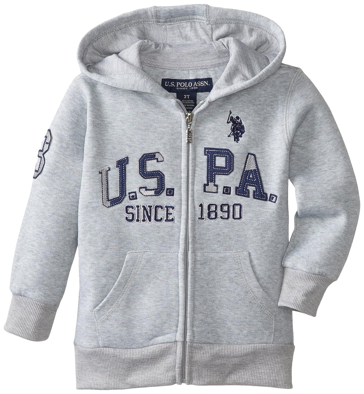 U.S Polo Assn Boys Hooded Zip or Snap Fleece Jacket F7WV85RDV