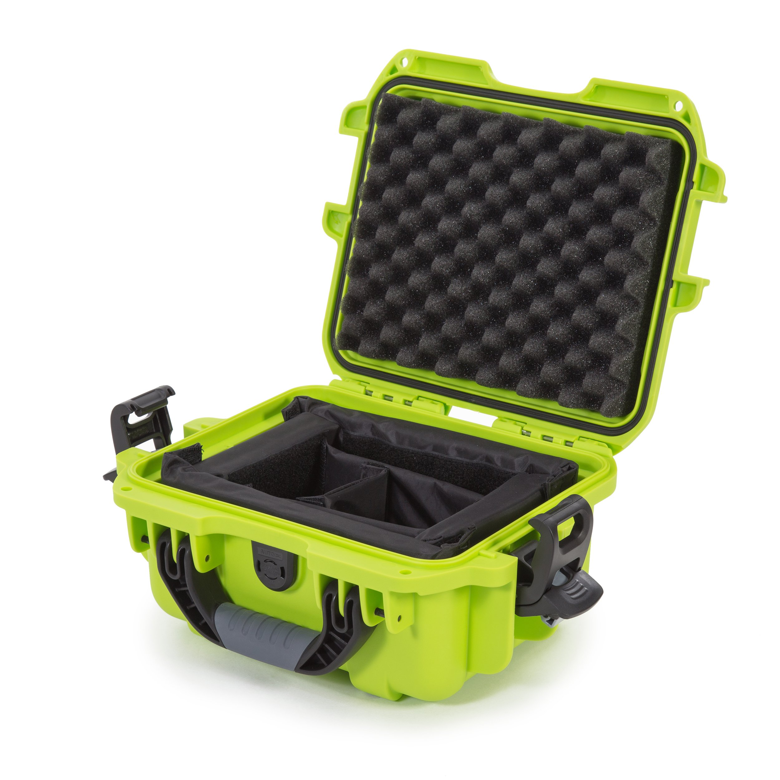 Nanuk 905 Waterproof Hard Case with Padded Dividers - Lime