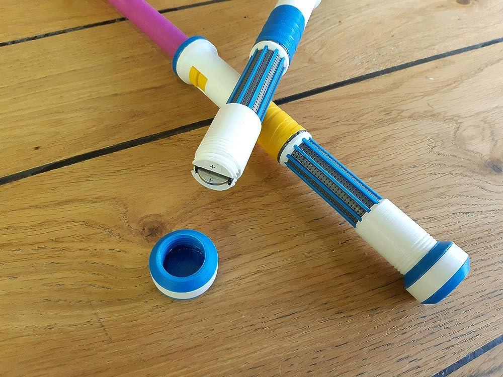 Cosplay 3d printed acrilic painted varnished Apex Lifeline Heirloom Drumsticks