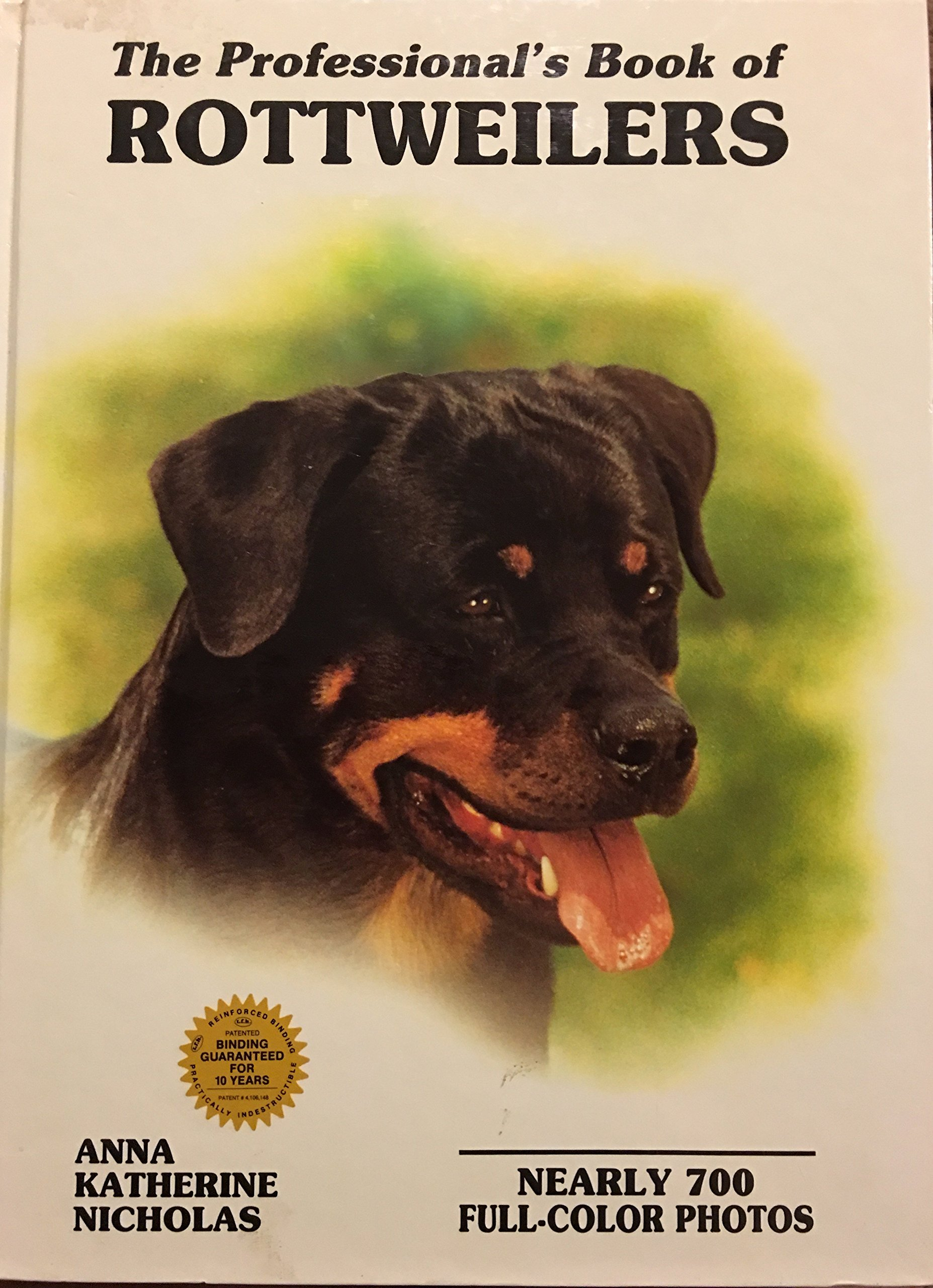 The Professionals Book Of Rottweilers Professional Book Of Series
