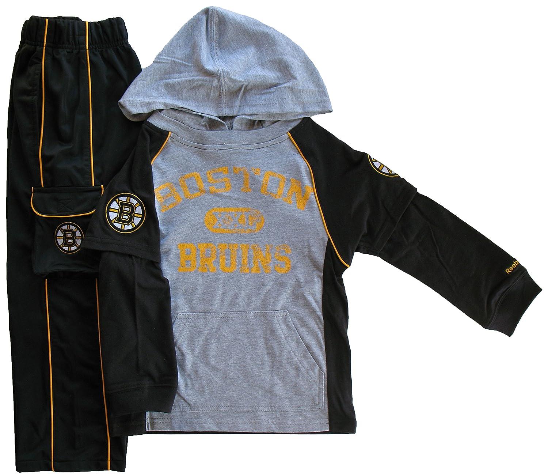 Boston Bruins Preschool Hooded Long Sleeve T-Shirt & Pant Set Reebok