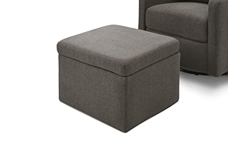 Tremendous Carters By Davinci Adrian Swivel Glider With Storage Ottoman In Charcoal Linen Water Repellent And Stain Resistant Fabric Pabps2019 Chair Design Images Pabps2019Com