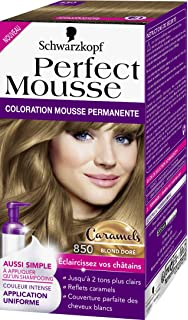 schwarzkopf perfect mousse coloration permanente 850 caramels blond dor 35 ml - Shampoing Colorant Schwarzkopf