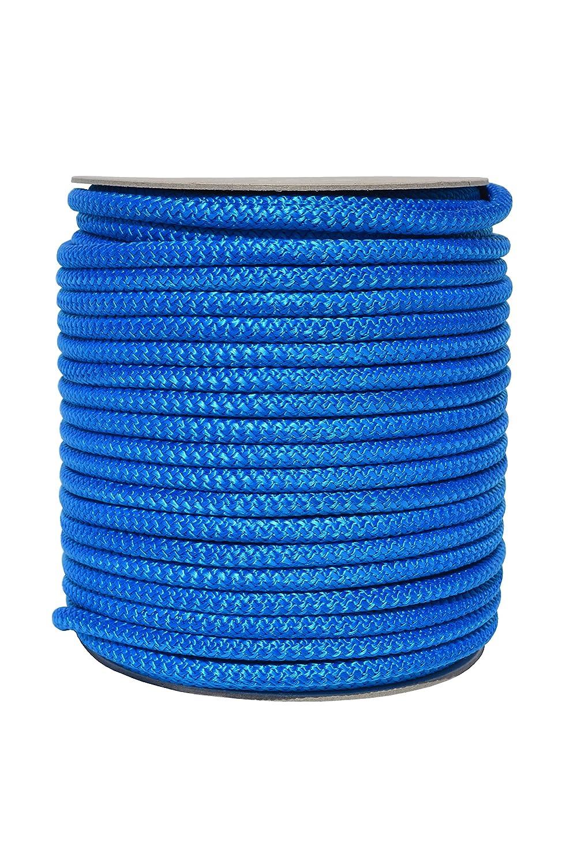 Corde polypropylène 8mm Blanc/Noir/Bleu, blanc, 10m MIXTRADER