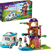 LEGO 41445 Friends Dierenkliniek Ambulance Speelgoed, dierenredding speelset met Olivia en Emma minipoppen