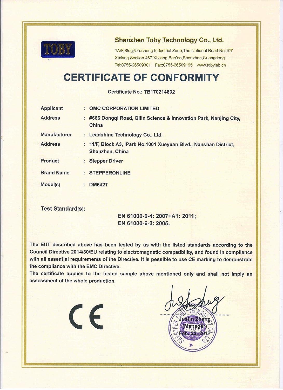 stepperonline CNC Digital motor paso a paso conductor 1.0 - 4,2 A 20 - 50 VDC para NEMA 17, 23, 24 y 34 motor paso a paso: Amazon.es: Bricolaje y ...