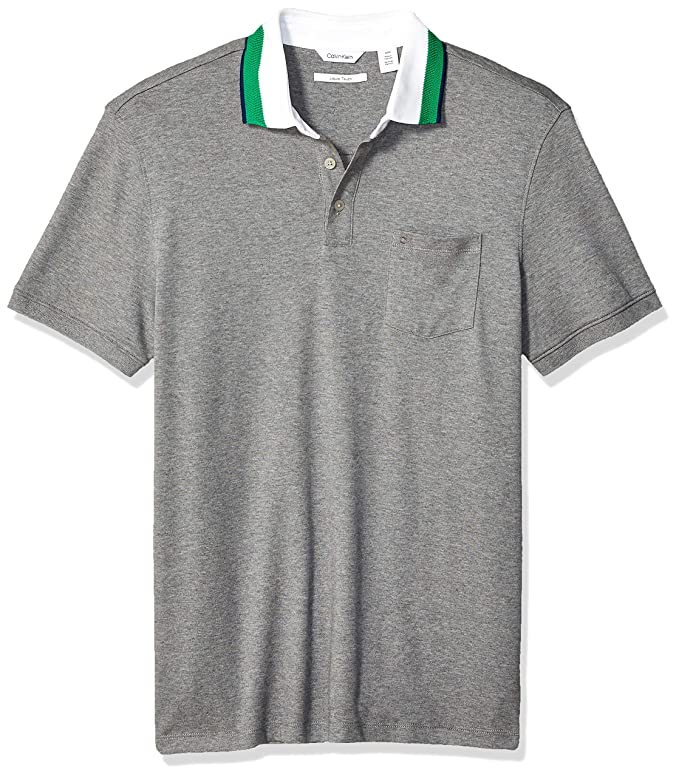 Calvin Klein 卡尔文克莱因 CK 纯棉 男式短袖提花Polo衫 2.4折$24.93 海淘转运到手约¥187
