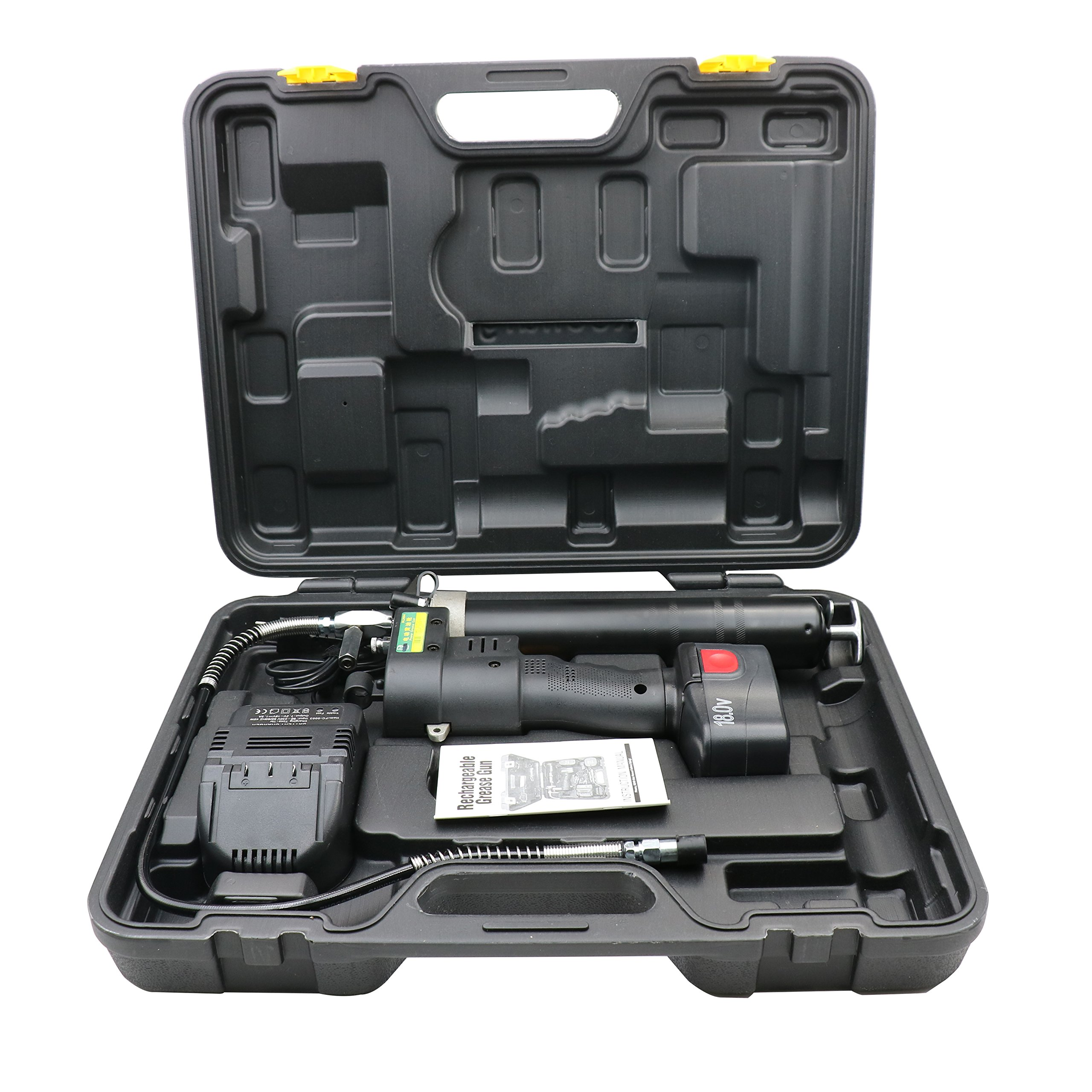 HM&FC Lubrication 18 Volt Cordless Grease Gun with 1 Batteries