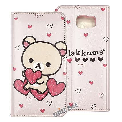 the latest 0d344 80843 Galaxy S6 Edge Plus Case RILAKKUMA Cute Diary Wallet Flip Synthetic ...