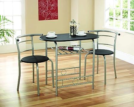 Gablemere Greenhurst - Juego de Mesa y 2 sillas para Comedor (armazón Negro): Amazon.es: Hogar