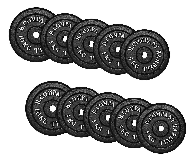 Bad Company I Hantelscheiben aus Gusseisen I Hantel Gewichte I 60 Kg (8 x 5 Kg, 2 x 10 Kg), 30 31 mm