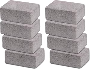 shanqian 8 Pack Grill Griddle Cleaning Brick Block, Grill Stone Grill Cleaner, Pumice Stone Grill Scraper, Magic Stone Pumice Grilling Cleaner Accessories for BBQ Grills, Racks, Flat Top Cookers