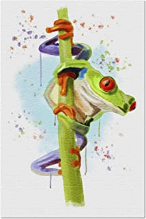 product image for Watercolor Creatures, Red Eyed Tree Frog 81949 (19x27 Premium 1000 Piece Jigsaw Puzzle for Adults, Made in USA!)