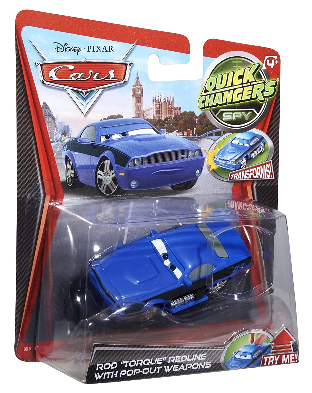 Amazon Com Disney Pixar Cars  Quick Changers Rod Torque Redline With Pop Out Weaons Toys Games