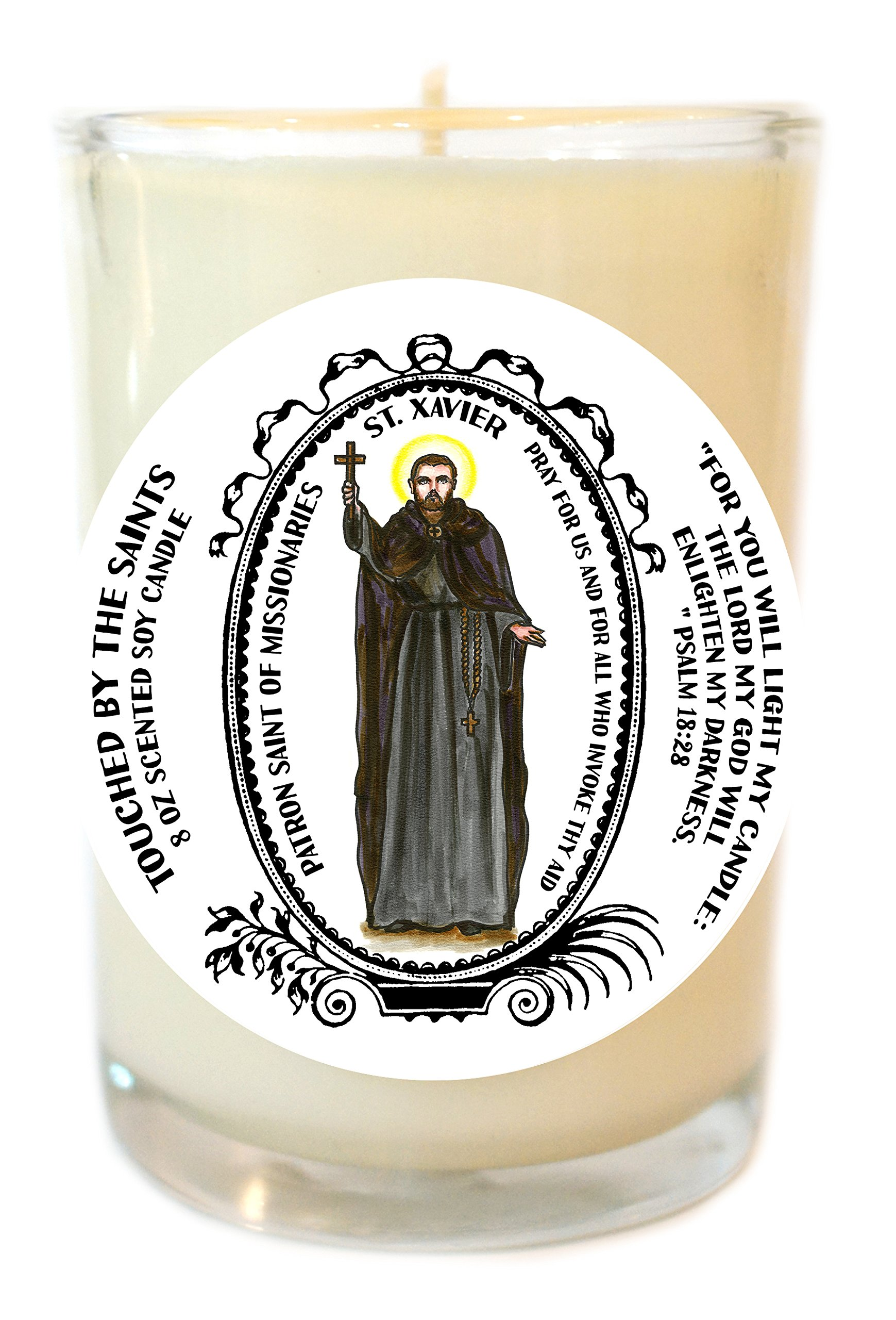 Saint Xavier Patron of Missionaries 8 Oz Scented Soy Prayer Candle