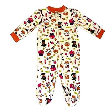 halloween pajamas baby girls long sleeve footed pajamas girls halloween cupcakes kitty