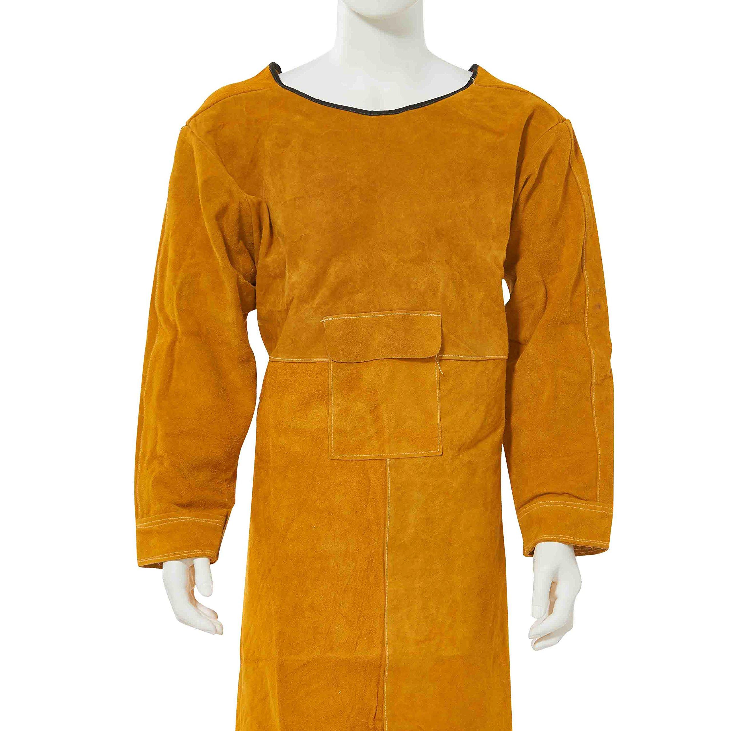 24 W x 24 L West Chester IRONCAT 7012 Heat Resistant Split Cowhide Leather Welding Waist Apron