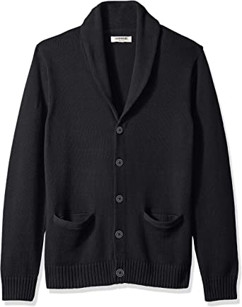 Goodthreads Soft Cotton Shawl Cardigan Sweater sudadera, Negro (solid black Blk), XXXXXX-Large