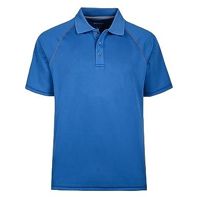 d8faebc9 MOHEEN Men's Short Sleeve Color Blocked Wicking Uniforms Polo T-Shirt(M.Blue