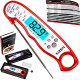 Digital Meat Thermometer - Top Waterproof Instant Read Thermometer with Backlight, Calibration, and Magnet. Super Fast Food Thermometer for Kitchen, Cooking BBQ, Grill!