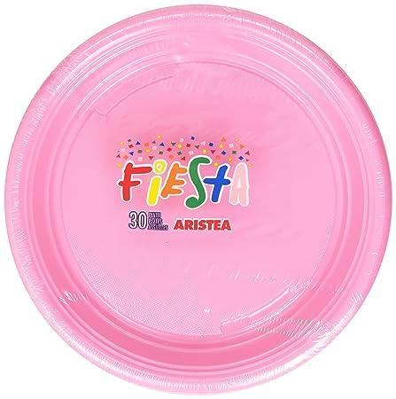 Fiesta\u0026nbsp;\u0026ndash; 30\u0026nbsp;Pink Plastic Plates  sc 1 st  Amazon UK & Fiesta \u2013 30 Pink Plastic Plates: Amazon.co.uk: Kitchen \u0026 Home