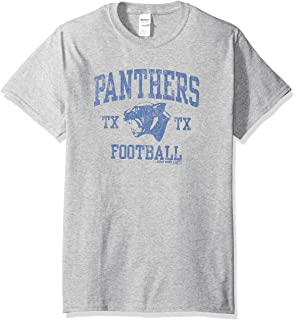 Friday Night Lights Dillon Panthers Distressed Royal Blue Adult T ... 09015404c