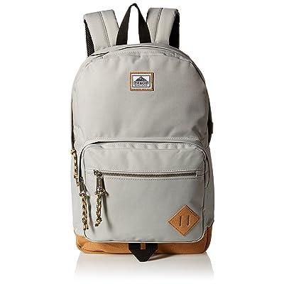 Steve Madden Men's Solid Nylon Classic Sport Backpack, Grey, One Size