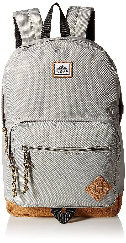 41078ecae8 Amazon.com: Steve Madden Men's Solid Nylon Classic Backpack, Deep Black,  One Size: Clothing