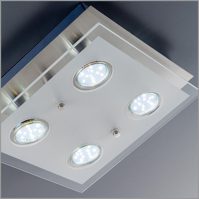 BKLicht LED Deckenlampe Inkl 4 X 3W GU10 Leuchtmitteln Moderne Deckenleuchte Flammig Amazonde Beleuchtung