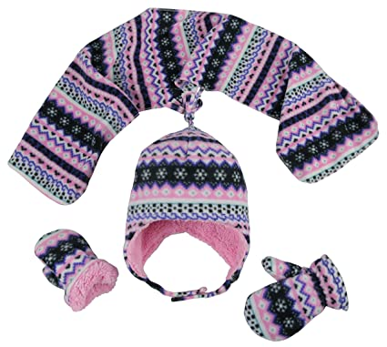 Amazon.com: N'Ice Caps Girls and Baby Fair Isle Print Fleece Hat ...