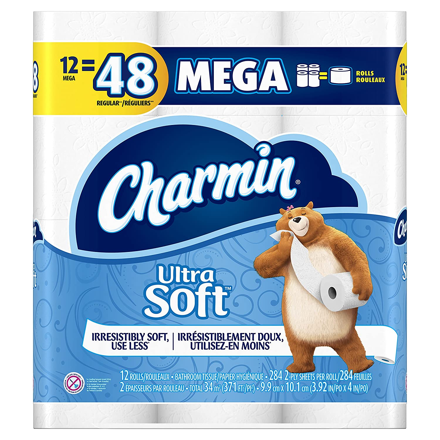 $11.47 (was $21.98) Charmin Ultra Soft Toilet Paper, 12 Mega Rolls Equal To 48 Regular Rolls, 12 Count