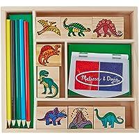 Melissa & Doug Juego de sellos de dinosaurios