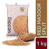 Amazon Brand - Vedaka Premium Red Masoor Dal Split, 1 kg