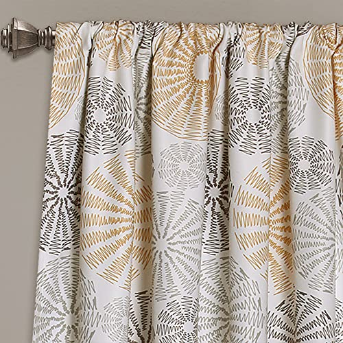 Lush Decor Multi Circles Curtain Panel