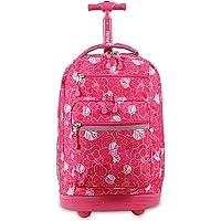 J World New York Sundance Laptop Rolling Backpack Backpack, SKANDI PINK