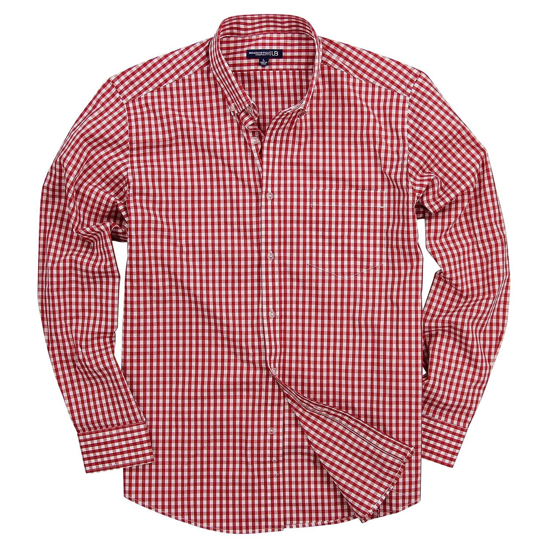 Mens Pink Gingham Button Down Shirt Bcd Tofu House