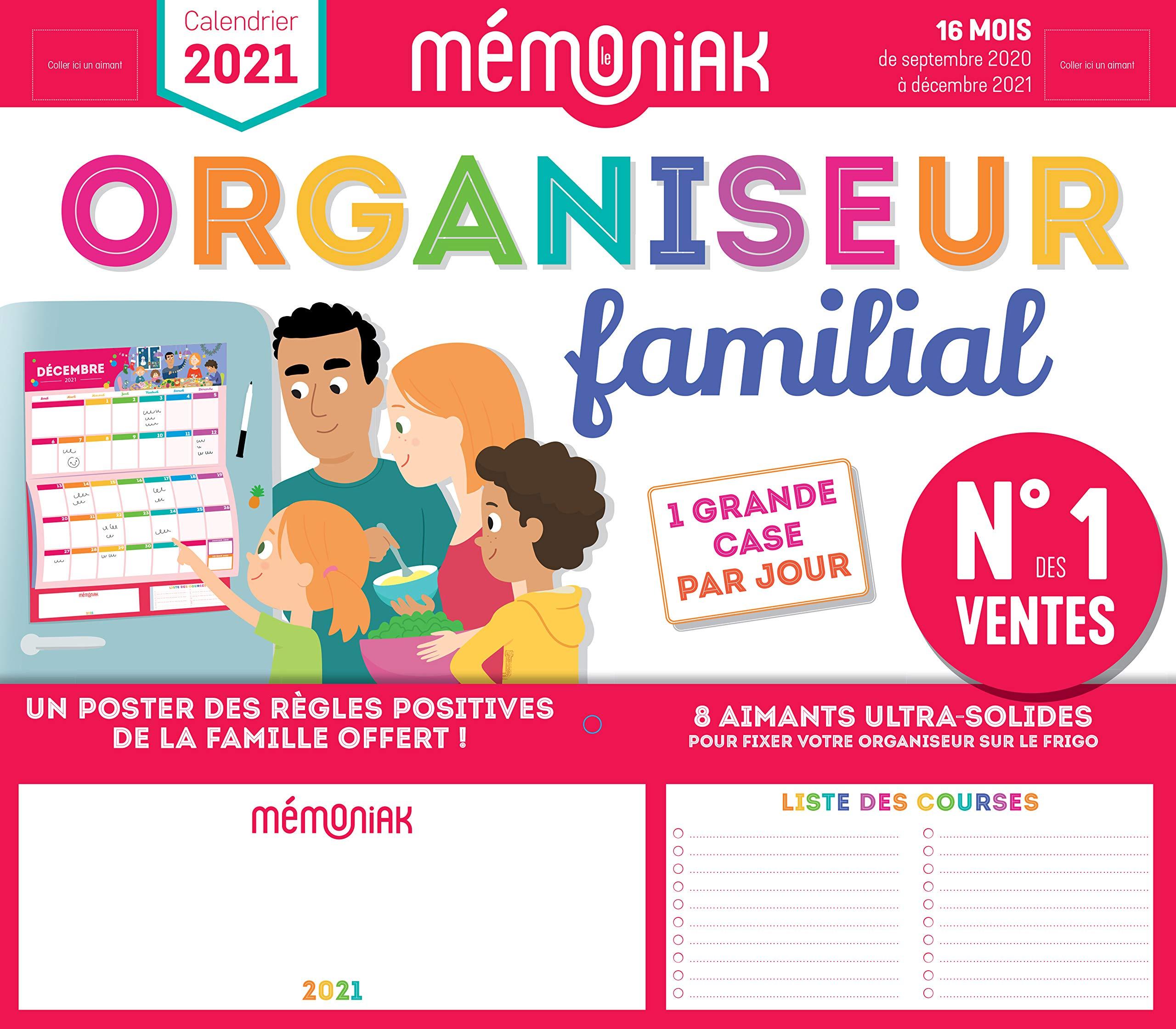 Amazon.fr   Organiseur familial Mémoniak 2020 2021   Calendrier