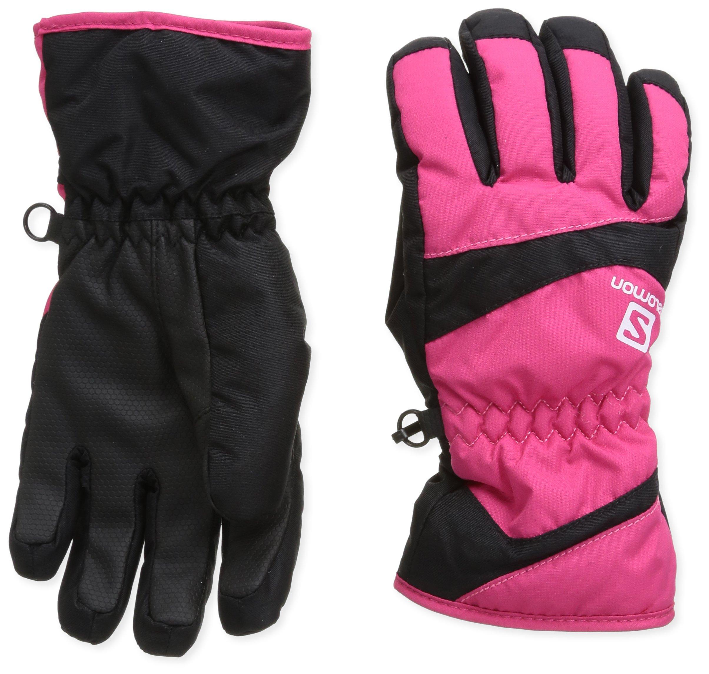 Salomon Juniors' Electre Glove Hot Pink / Black Large by Salomon