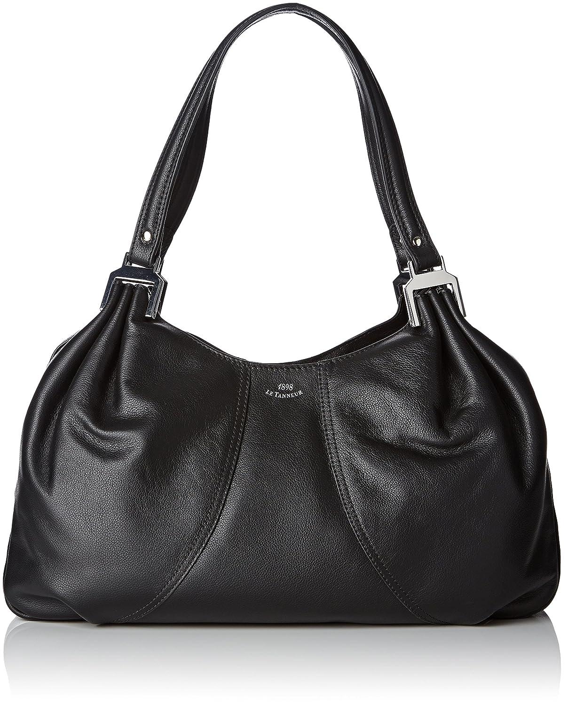 Le Tanneur THX1001 - Bolso Bandolera Mujer, Negro (Negro (N1)), 9x26x37 cm (W x H x L): Amazon.es: Zapatos y complementos