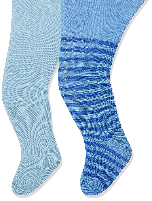 per of 2 Playshoes Baby-M/ädchen Nilpferd und Unifarben mit Komfortbund Strumpfhose