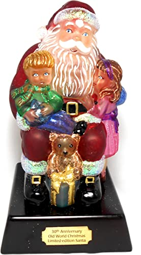 Old World Christmas Wishes and Dreams Santa Glass Night Light Figurine