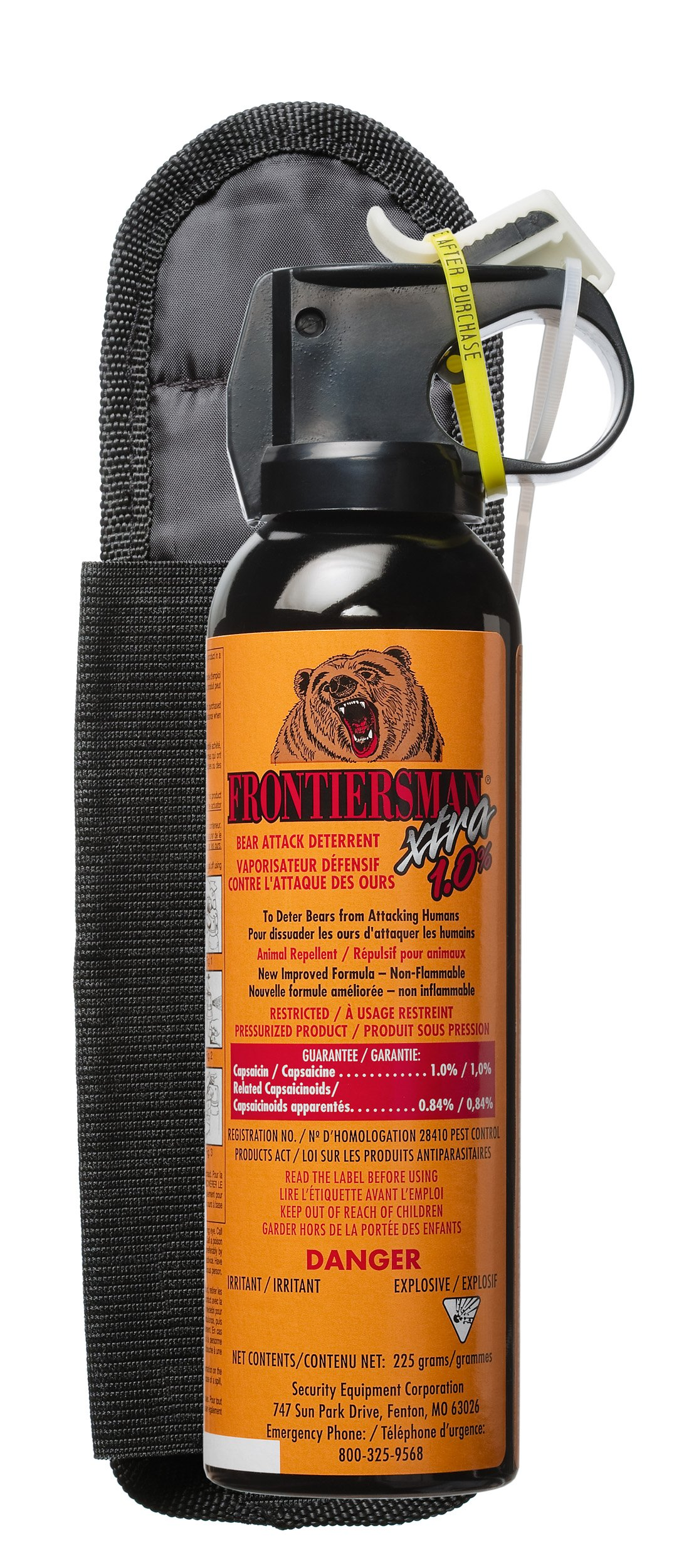 Bear Protection With Frontiersman Bear Spray: Frontiersman XTRA Bear Spray With Belt Holster