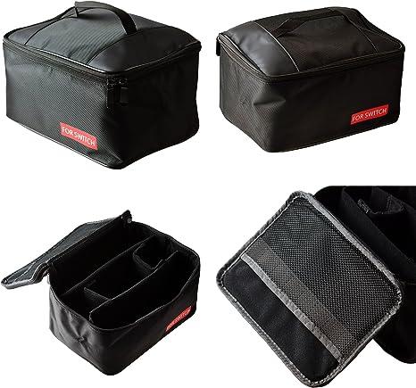 Mcbazel Bolsa de almacenamiento portátil, llevar todo Nylon protector de viaje Zipper Case Travel Bag para Nintendo Switch Console y accesorios (Negro): Amazon.es: Videojuegos