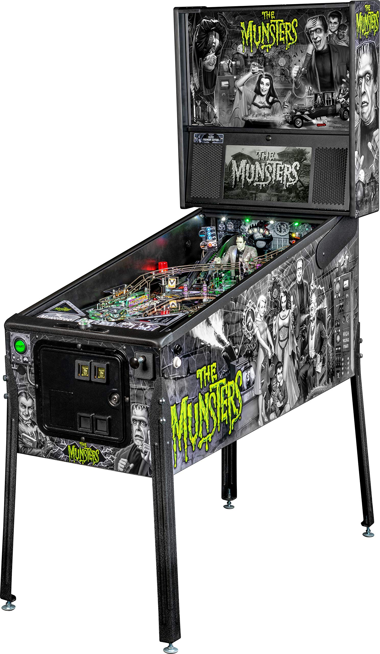 Stern Pinball Munsters Arcade Pinball Machine, Premium Edition by Stern Pinball
