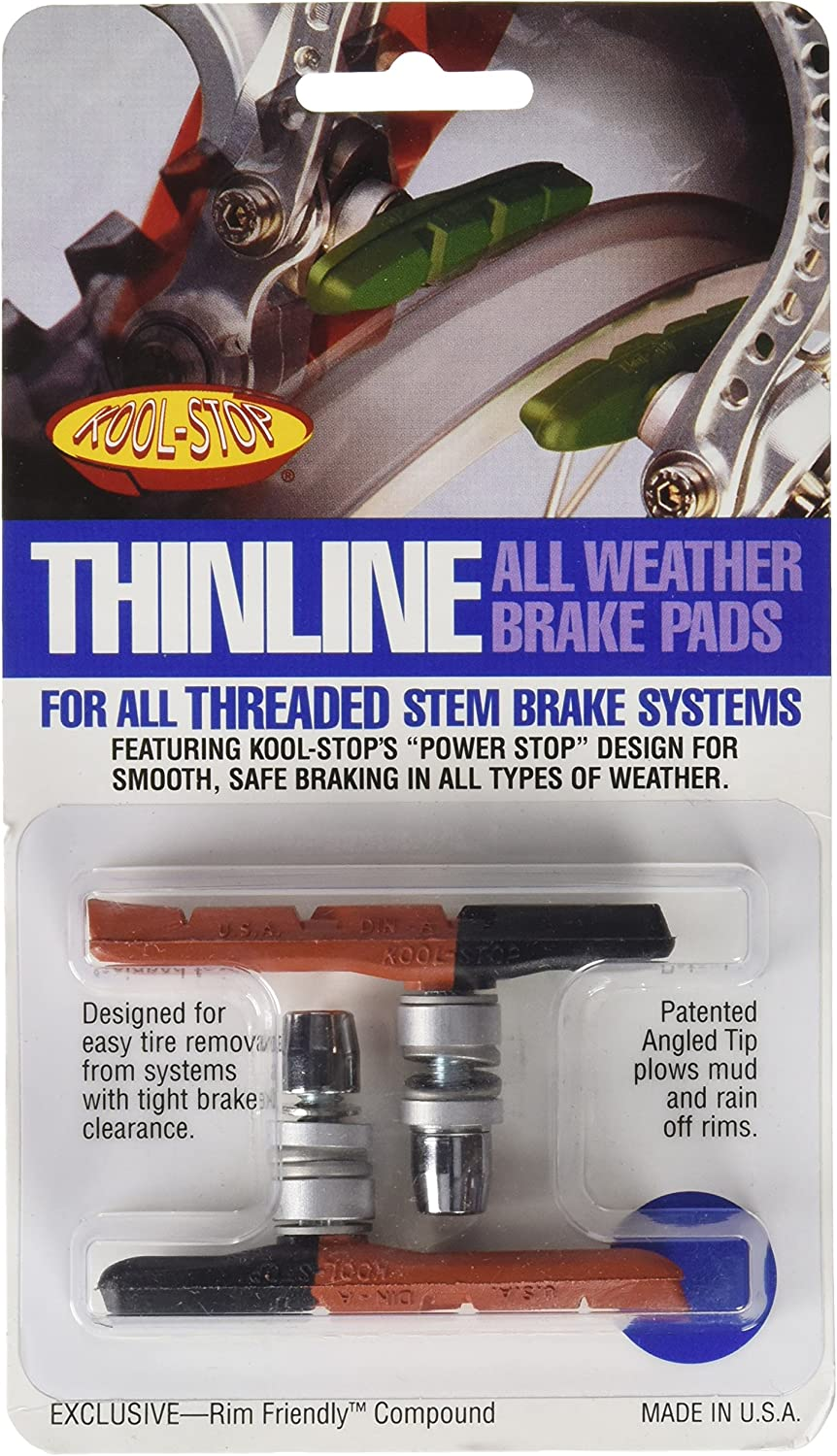 New Kool-Stop Mountain Brake Shoe Threaded Post for Linear Pull Salmon Compound