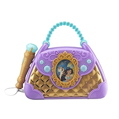 Aladdin Sing Along Boombox with Microphone Built in Music Flashing Lights Real Working Mic Connects to MP3 Player Storage Compartment in Back for Audio Device (Frustration Free Packaging): Toys & Games