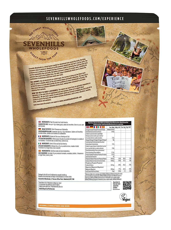 Sevenhills Wholefoods Semillas de Chia Crudo 1kg